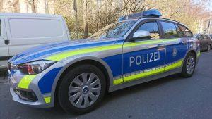 Warnfolie für Polizeifahrzeug